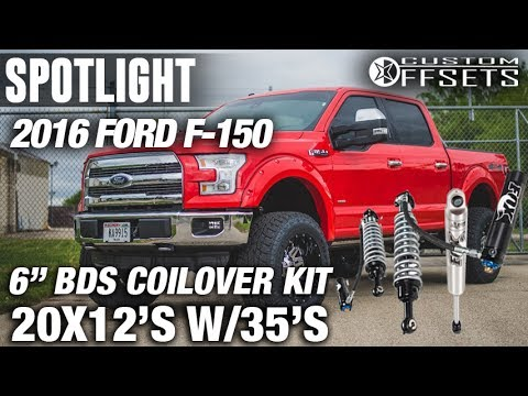 """Spotlight - 2016 Ford F-150, 20x12's, 6"""" BDS, and 35's"""