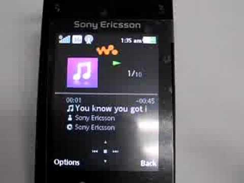 Sony Ericsson W980 FM transmitter