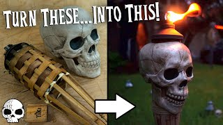 How to make DIY Skull Torches | WICKED MAKERS