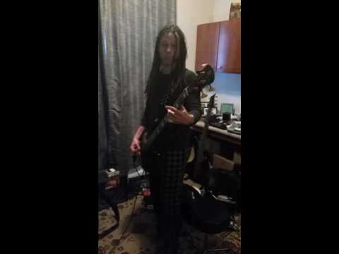 John Moyer At home practice for   Disturbed tour