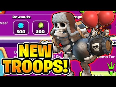 NEW TROOPS ARE HERE! GIANT SKELETON AND SKELETON BARREL ARMIES! -