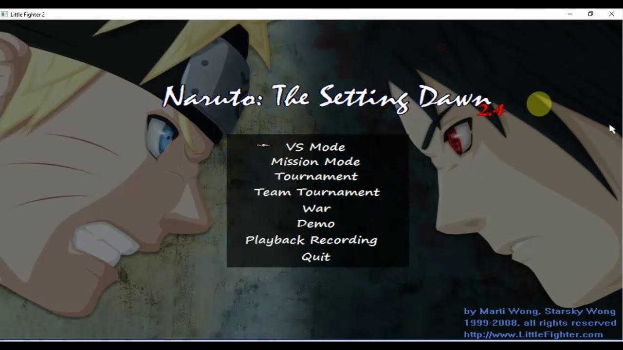 lf2 naruto setting dawn 2.4