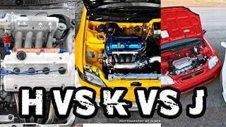 H Series vs K Series vs J Series What's The Best Swap?!