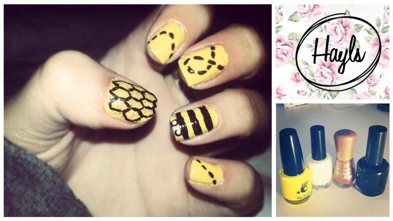 Nail Art Honey Bee Love Hayls World Youtube