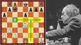 Mikhail Tal Punishes His Opponent For Not Castling In Time