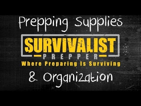Prepping Supply Lists and Organization