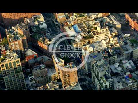 New York Buildings Modern Footage Famous Travel Manhattan Tourism City USA Drone Crowded Timelapse
