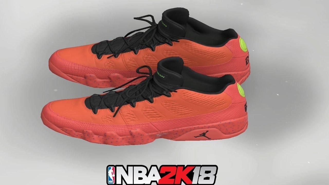 NBA 2K18 Shoe Creator ⋆ NBA2K18⋆ Jordan 9 Low Bright Mango - YouTube e119617e9