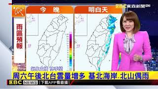 氣象時間 1090221 晚間氣象 東森新聞