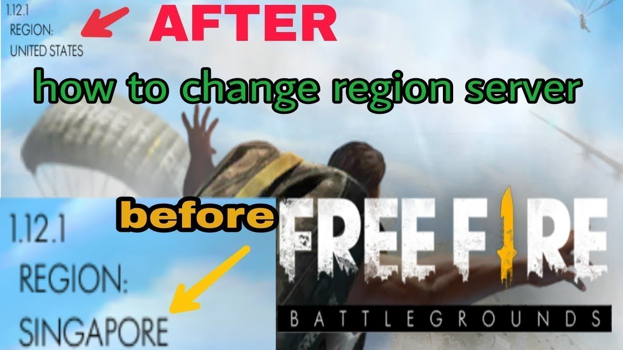 How to change free fire game region with proof 100%Work