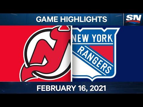 NHL Game Highlights | Devils vs. Rangers - Feb. 16, 2021