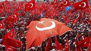 """الاتراك يلبون دعوة الرئيس رجب طيب اردوغان ويتوافدون لحضور تجمع """"الديمقراطية والشهداء"""" في اسطنبول"""