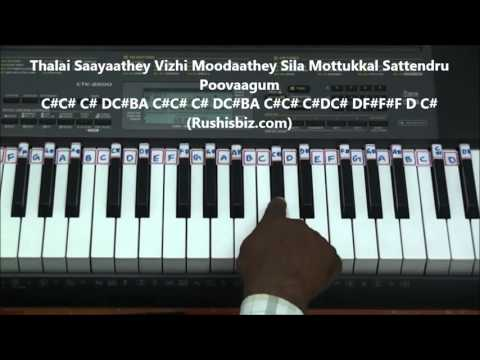 Vennilavae Vennilavae Piano Tutorials ( Minsara Kanavu )