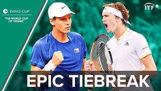 Alexander Zverev v Tomas Berdych | Epic Tiebreak | Davis Cup 2016