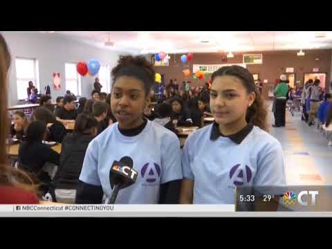 No One Eats Alone Day at New London Arts Magnet School | New London | CT | NBC News
