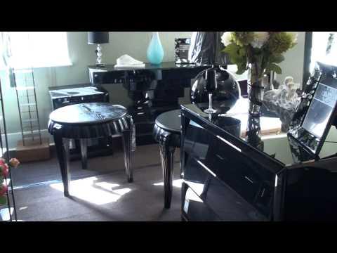 Black venetian furniture room home interiors