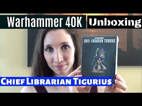 Space Marine Chief Librarian Tigurius Warhammer 40K Unboxing !
