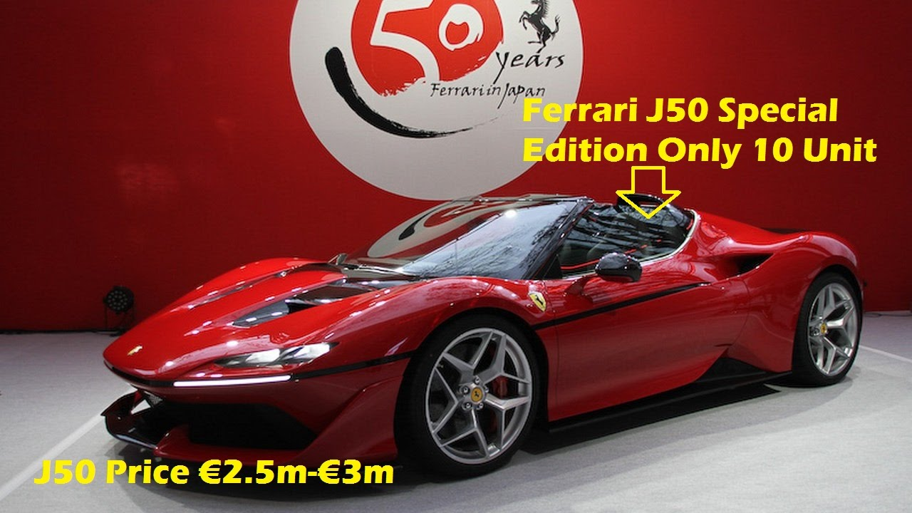 Wow Ferrari J50 Special Edition Price 2 5m 3m Only 10 Will Be Built Youtube