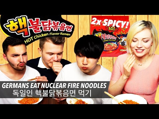 Germans Do The Nuclear Fire Noodle Challenge (????)(ENG SUB)