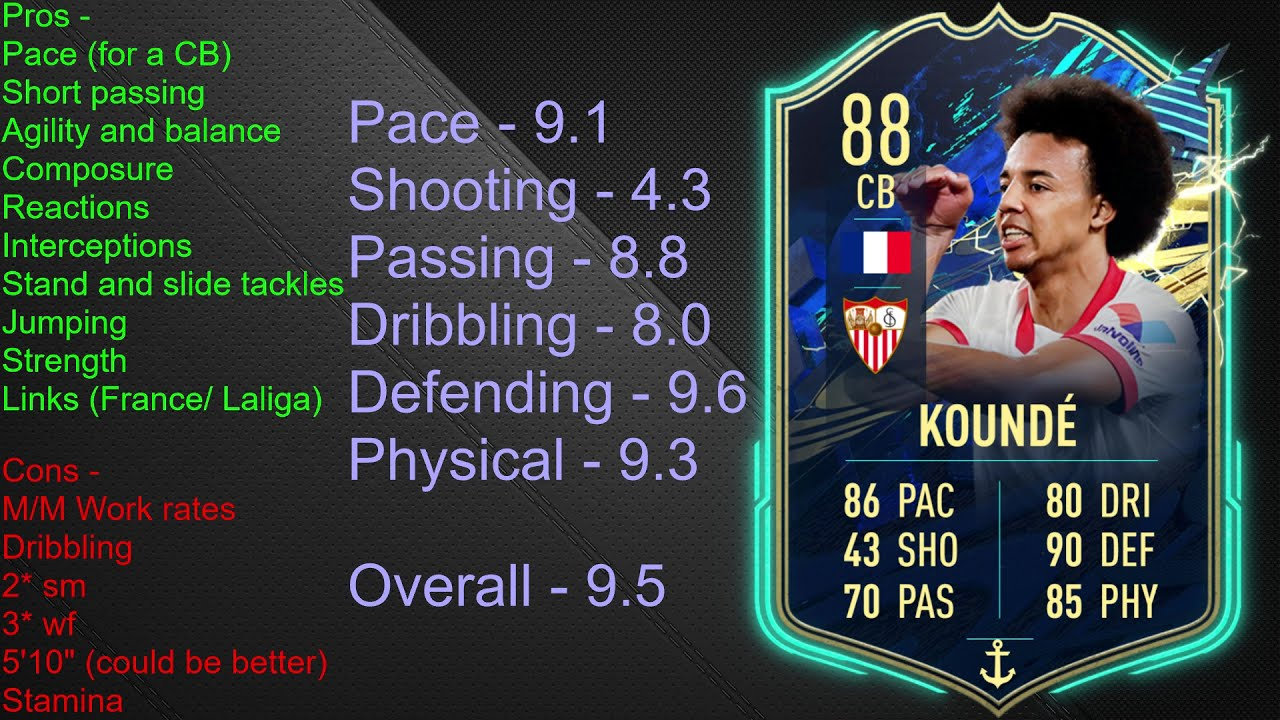 He goes from a 76 overall cb to an 82. Kounde Fifa 21 Card : Oc The Unofficial Fifa 21 Objective ...