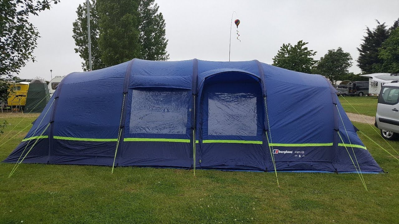 e6f03167a8 Putting away a Berghaus Air 8 (or any inflatable tent) - YouTube
