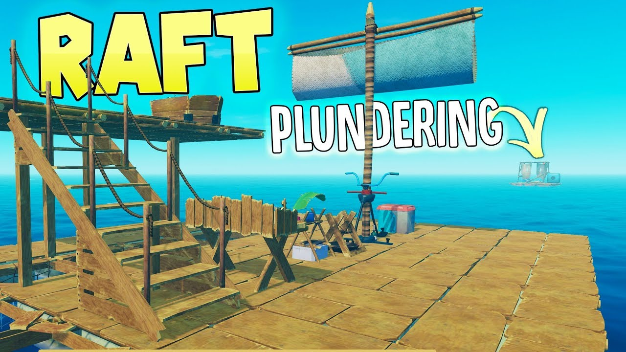 Raft - Plundering Rafts - Building A Research Desk, Farm & Net Catchers -  Raft Gameplay Part 2