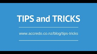 Accredo Tips & Tricks - Using Filters
