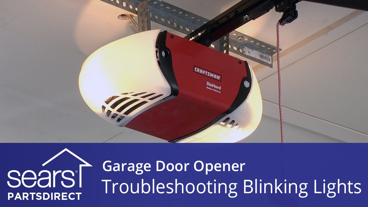 Garage Door Won T Close Lights Blink 10 Times Youtube