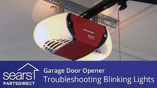 garage door won t close lights blink 10 times