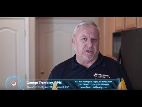 Kitchen/Cabinets/Appliances Move-Out Inspection Video by Blackbird Realty Las Vegas Property Mgt.