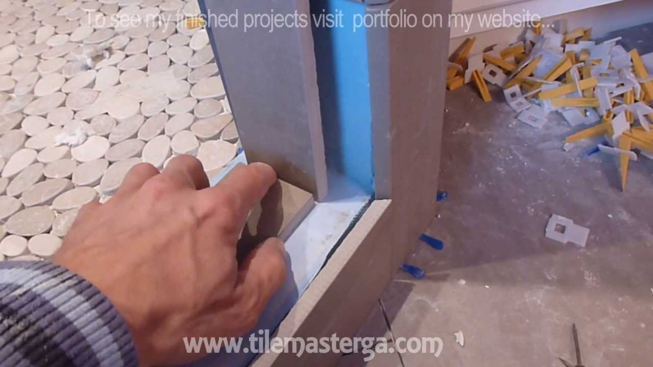 How to install shower surround tile backer board & waterproofing ...