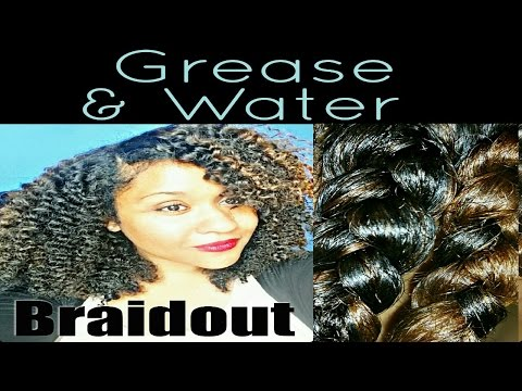 Easy Grease & Water Braidout for Big Defined Kinky Curly Natural Hair