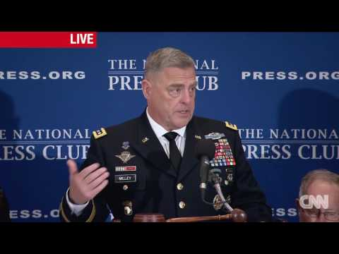 General Mark Milley speaks at National Press Club - 7/27/2017