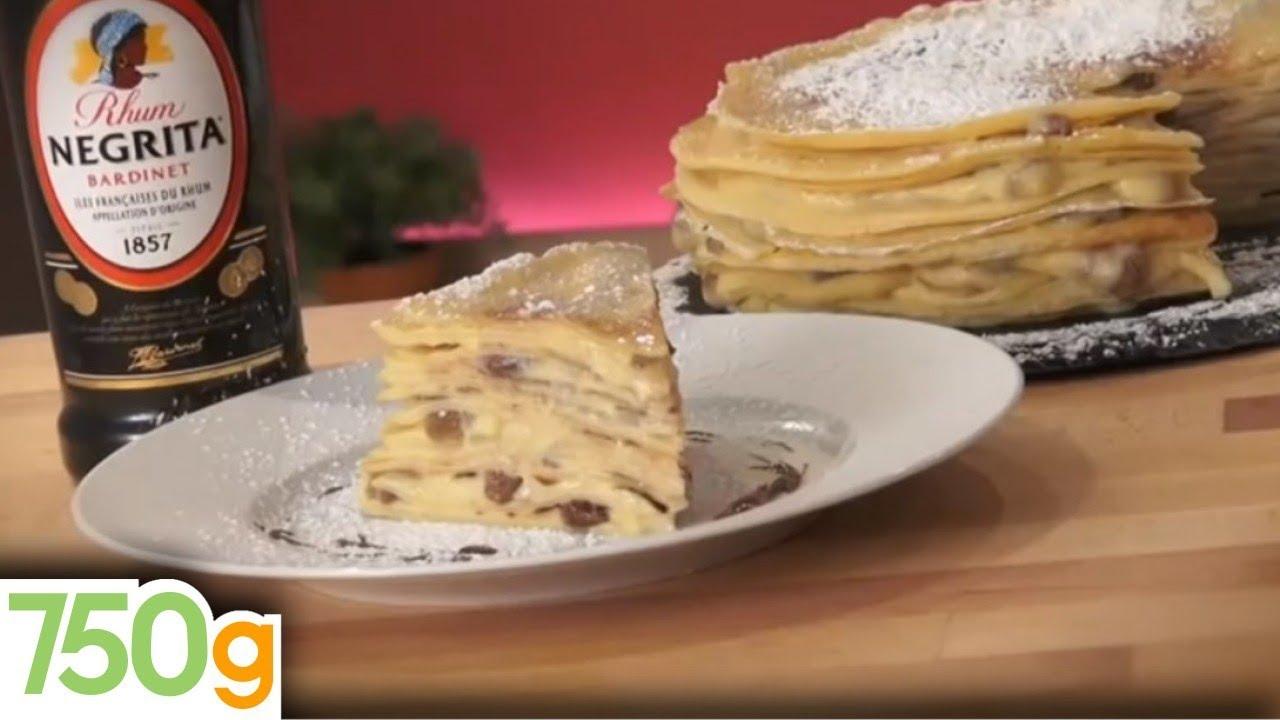 Recette Du Gâteau De Crêpes 750g Youtube