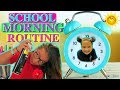 "REAL SCHOOL MORNING ROUTINE ""FOR THE FIRST DAY"" ""ALISSON&EMILY"""