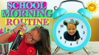 """REAL SCHOOL MORNING ROUTINE """"FOR THE FIRST DAY"""" """"ALISSON&EMILY"""""""