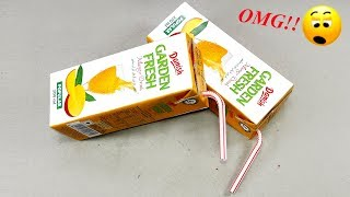 Waste material reuse idea | Best out of waste | DIY arts and crafts | recycling juice packet