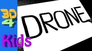 Turn word into cartoon  for Kids very funny ! DRONE wordtoon #58
