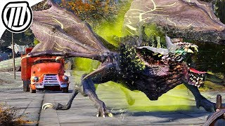 Fallout 76 Gameplay: Hunting the Giant ScorchBeast (Mutant Bat-Dragon!)
