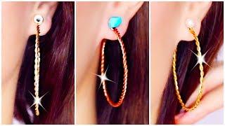 Easy DIY Twisted Hoop Earrings! How To Make Earrings Fast And Easily!