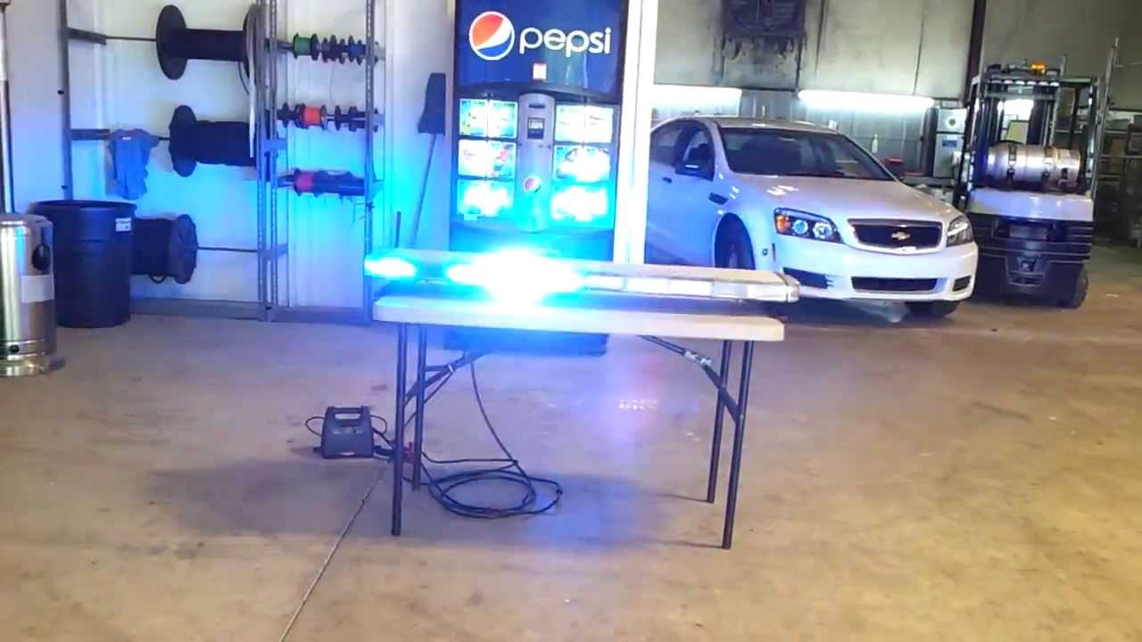 Whelen 48 inch liberty blue led lightbar youtube mozeypictures Gallery