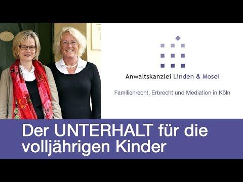 Der Unterhalt für volljährige Kinder | RA Dorothée Linden