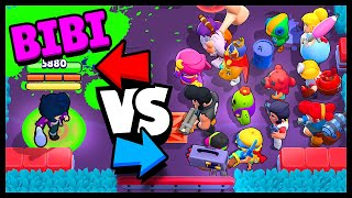 BiBi vs MAX BRAWLERS in ALL Game Modes - Brawl Stars BiBi Gameplay