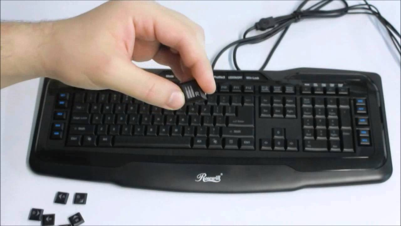 Rosewill RK-8200 Backlit Gaming Keyboard with 10 Macro Keys Overview