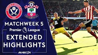 Sheffield United v. Southampton | PREMIER LEAGUE HIGHLIGHTS | 9/14/19 | NBC Sports