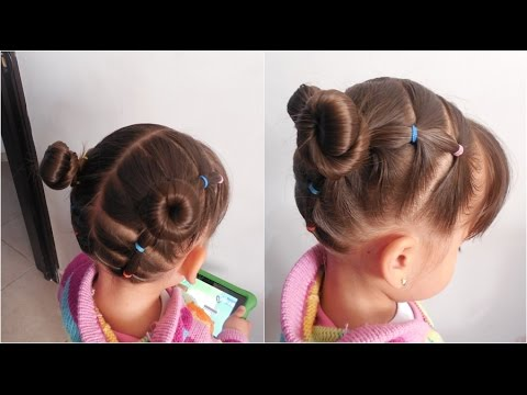 Peinados faciles para nina chongos