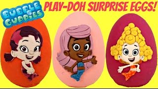 Nick jr. Bubble guppies Play doh Toy Surprise Eggs with Oona, Molly and Deema / TUYC