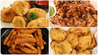 6 Easy Monsoon Snack Recipe - Quick Evening Snack Recipes - Monsoon Special Pakoras - Tea TIme Snack