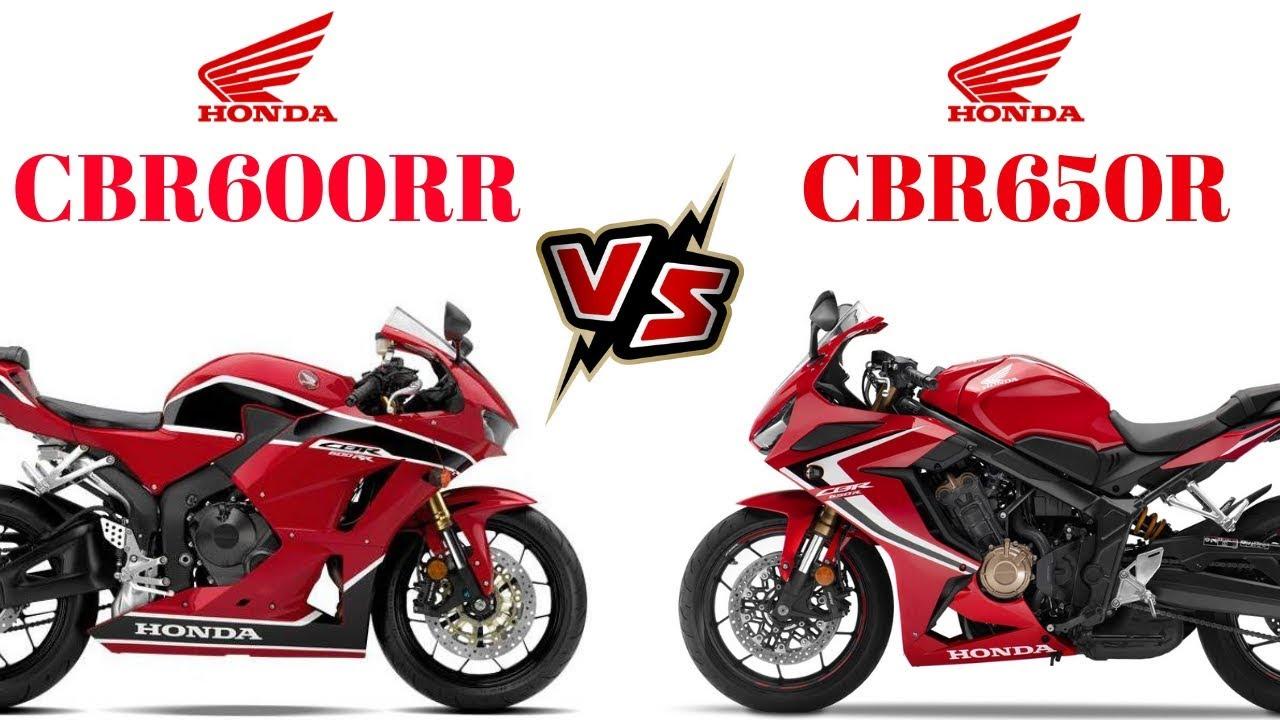 Honda Cbr600rr Vs Honda Cbr650r 20182019 Youtube