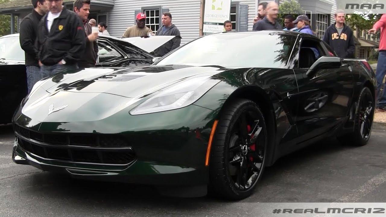 Lime Rock Green Corvette C7 Stingray Lamborghini Diablo